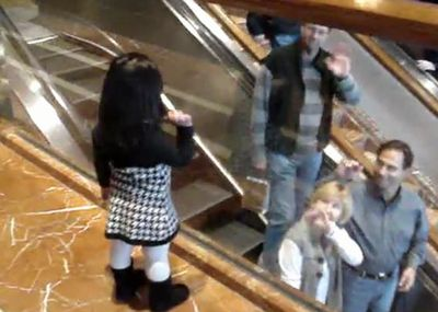 Chloe saying bye at the Copley Place Mall_fc2