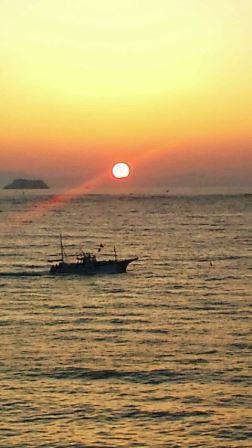 日の出2015年9月22日花渕浜