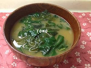 すいおうの葉のお味噌汁