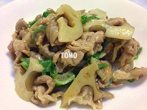 レンコンと豚肉のピリ辛炒め