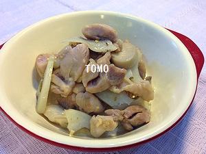 鶏肉とレンコンのハーブ炒め