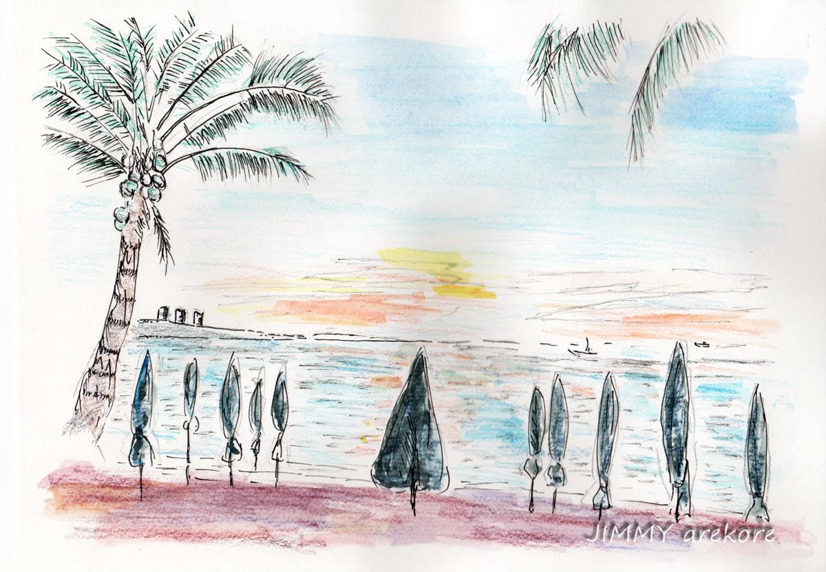 パタヤビーチの夕凪