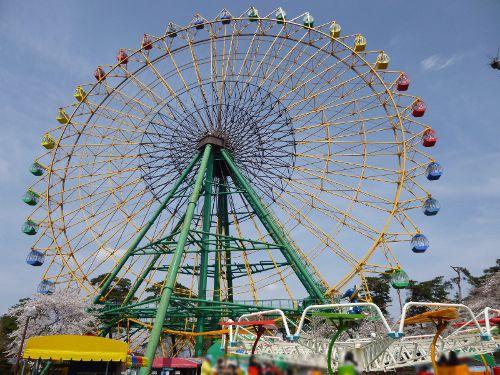 華蔵寺公園遊園地の観覧車『ひまわり』