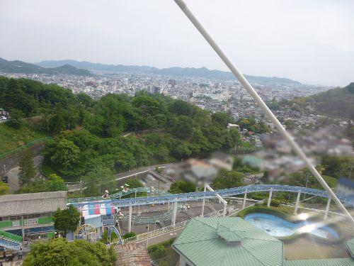 観覧車から見た桐生市街地