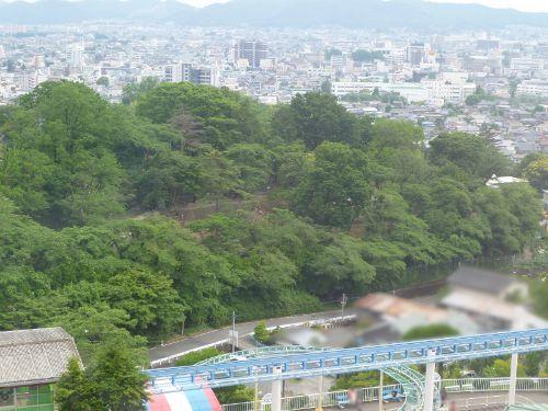 観覧車から見た桐生が岡動物園