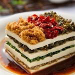 ピータン豆腐ミルフィーユ