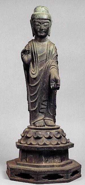 般若寺・伝阿弥陀如来金銅立像