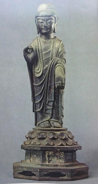 「閻浮檀金阿弥陀如来」と称されていた伝阿弥陀像