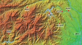 「新編相模国風土記稿」で「香蕈」の産地とされた村々
