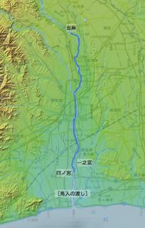 江戸時代の相模川川下り:当麻→四之宮
