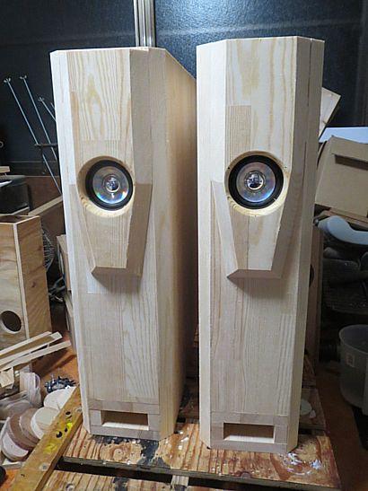 200円ユニットバックロードバスレフ本気箱の製作 4
