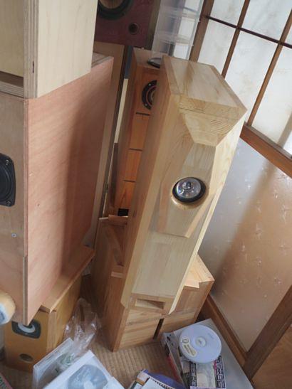 200円ユニットバックロードバスレフ本気箱の製作 6