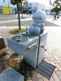 JR深川駅 アンパンマンの水飲み場