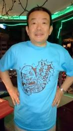 金Tシャツ・ブルー