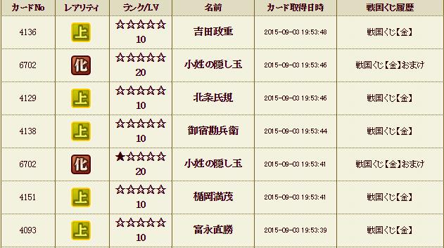 くじ履歴30