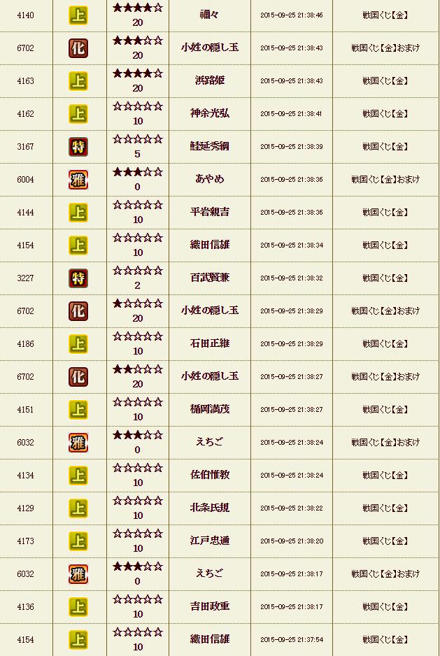 9月26日 くじ乱舞6