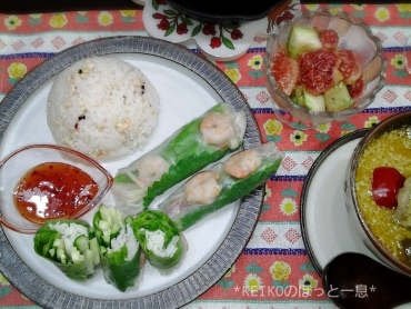 エスニック料理と坊っちゃんカボチャと無花果2