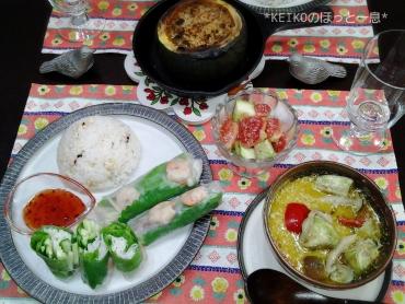 エスニック料理と坊っちゃんカボチャと無花果4