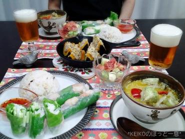エスニック料理と坊っちゃんカボチャと無花果6