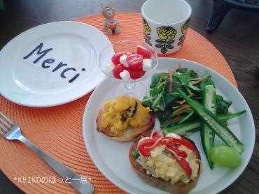 栗と紫芋のチーズケーキとモーニング