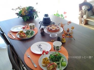栗と紫芋のチーズケーキ3