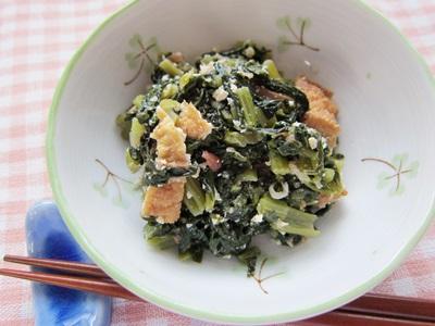 小松菜の梅じゃこ炒め