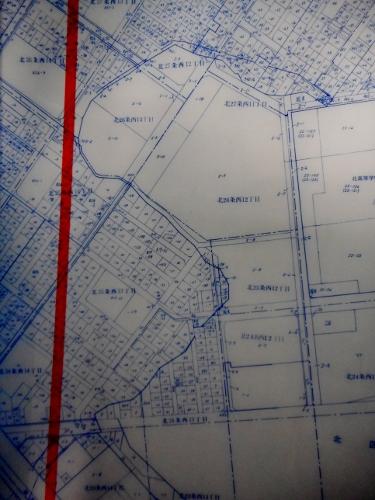 地番図 北区 旧琴似川一帯