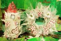 クリスマスリース 万華鏡 工作 キッズ・アトリエ 西東京市 武蔵野市