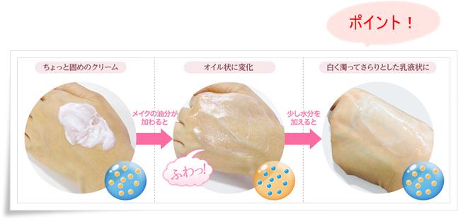 素肌畑 マッサージクレンザ オイル化