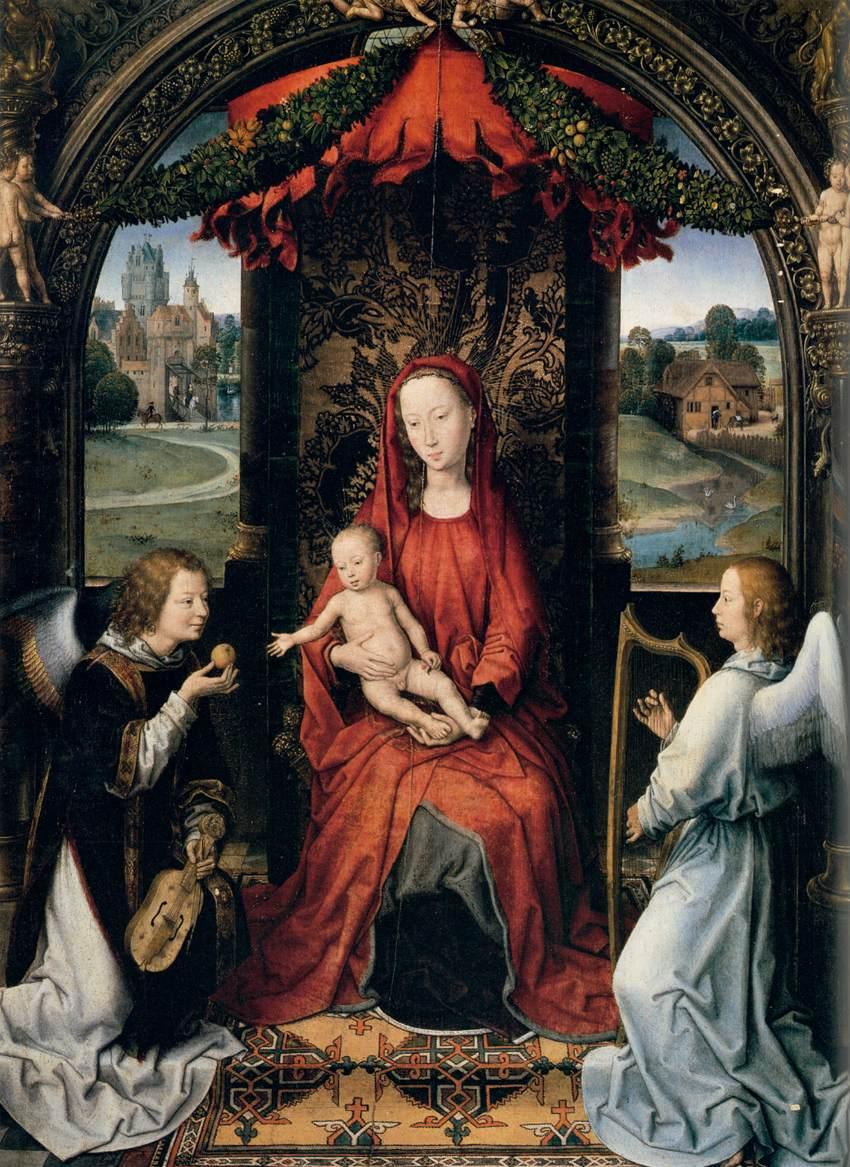 memling玉座の聖母子