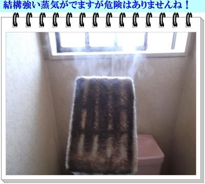 2012年2月7日結構強い蒸気が出ますが危険はありません