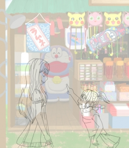 夏姉妹夏の終わり3線画