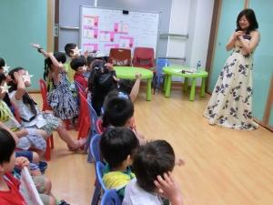 幼稚園での授業