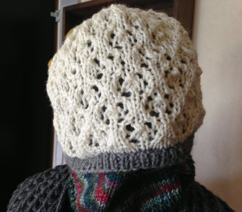20150901 60 Quick Luxury Knit - Lacy Layered Hat