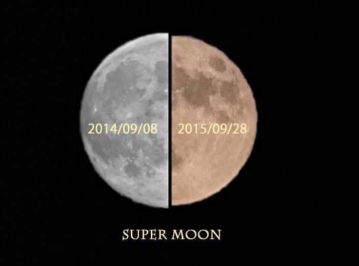 スーパームーン 比較
