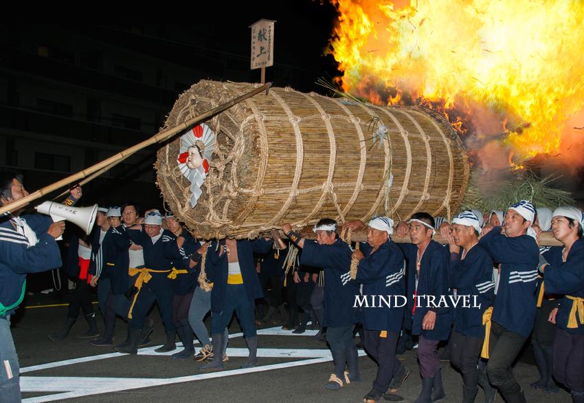 三栖神社 炬火祭 大松明