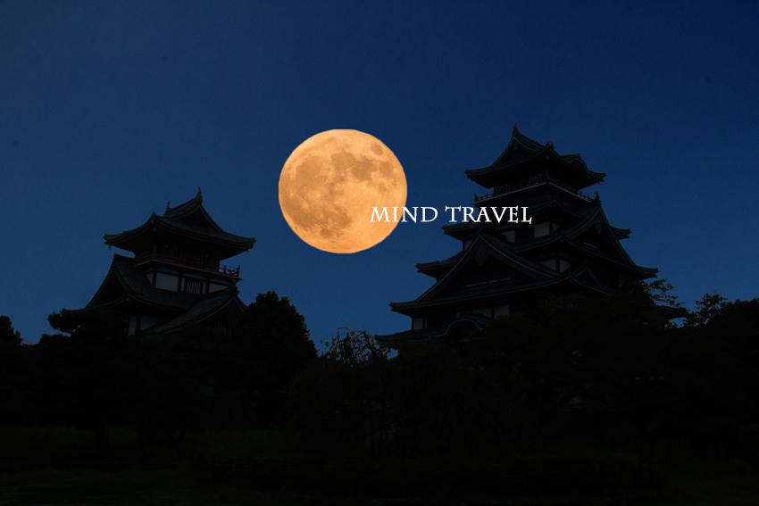 伏見桃山城 月
