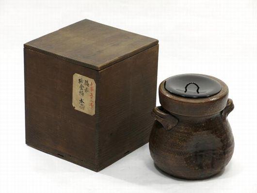 古備前 砂金桶 水指 茶道具