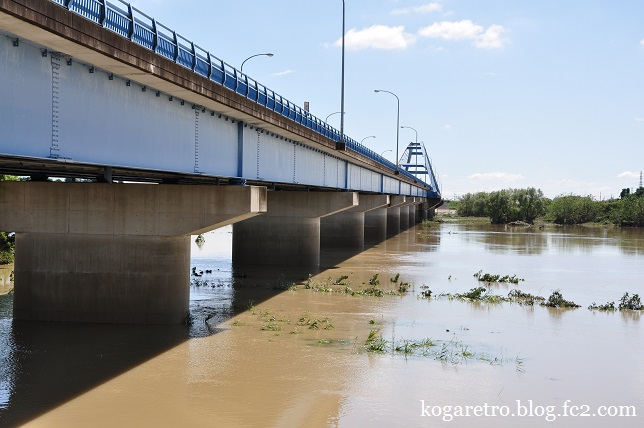 大雨の後の松原大橋3