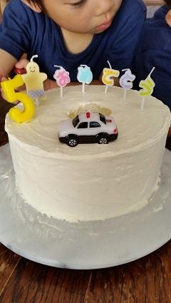 長男くん5歳ケーキ作り