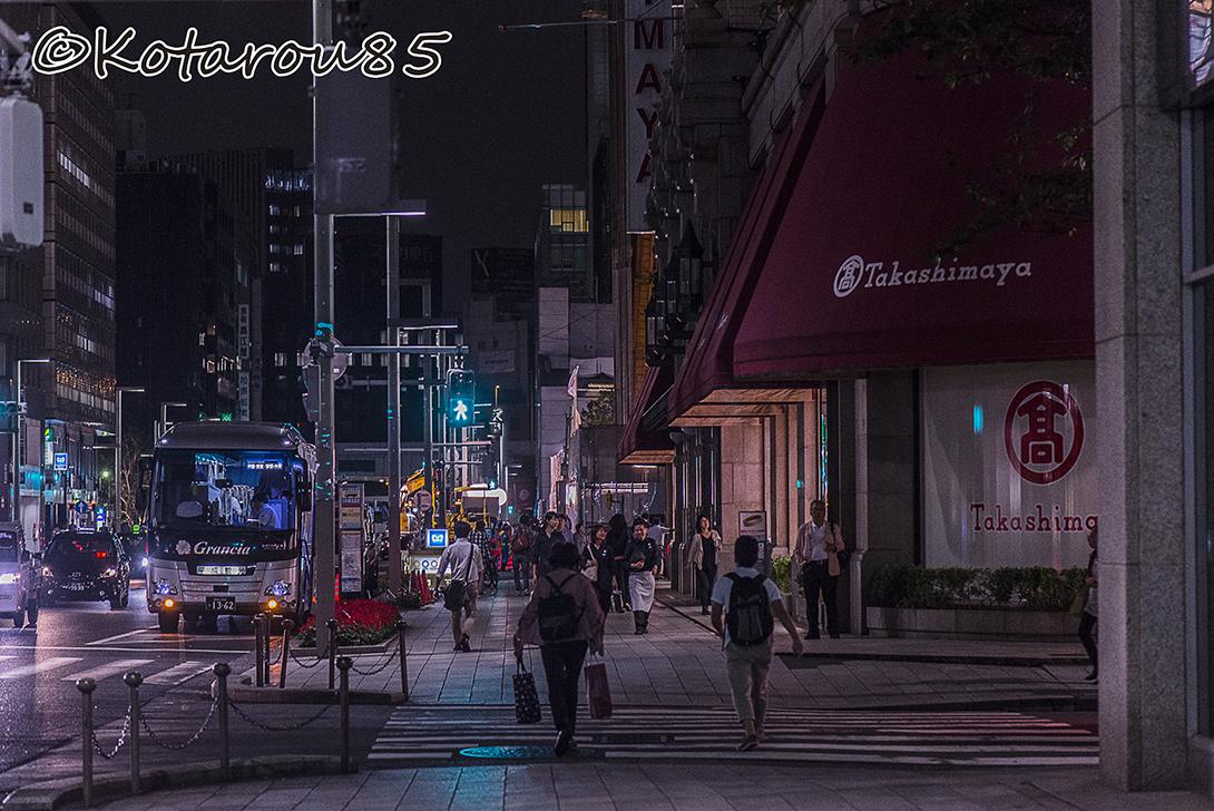 日本橋の夜行バス 20150827