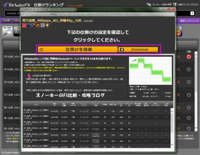 トライオートFX仕掛けランキングバージョンアップ2