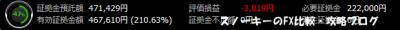 20151003トライオートFX証拠金預託額47万1429円