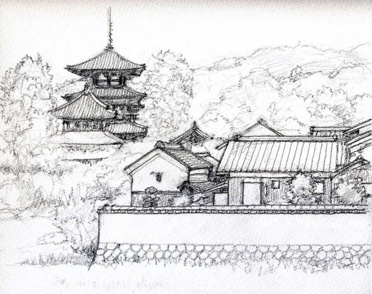 法輪寺付近 デッサン (750x594)