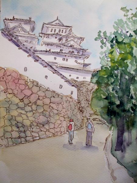 姫路城 2人