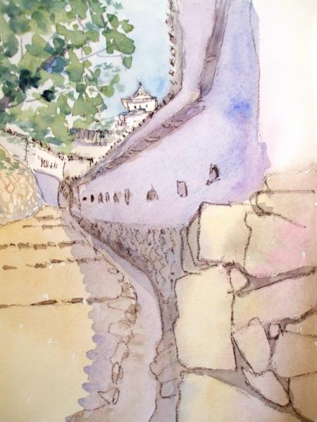 姫路城 土塀