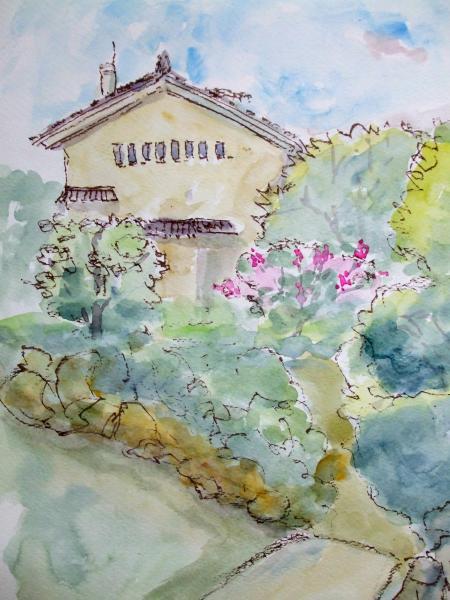 慶沢園宅から美術館