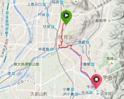 伏見宇治川ジョギングコース
