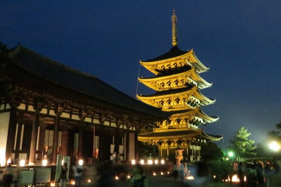 興福寺ライトアップ1