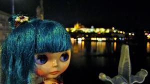 プラハ(カレル橋夜景)